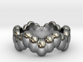 Biological Ring 19 - Italian Size 19 in Fine Detail Polished Silver