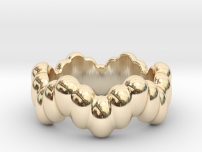 Biological Ring 27 - Italian Size 27 in 14k Gold Plated Brass