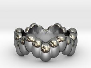 Biological Ring 28 - Italian Size 28 in Fine Detail Polished Silver