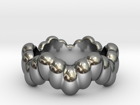Biological Ring 30 - Italian Size 30 in Fine Detail Polished Silver