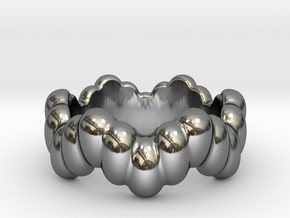 Biological Ring 32 - Italian Size 32 in Fine Detail Polished Silver
