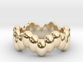Biological Ring 33 - Italian Size 33 in 14k Gold Plated Brass