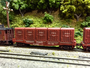 PRR DD1 Containers in N scale in Smooth Fine Detail Plastic