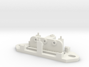 Railroad switch / point actuator for PECO PL-13 in White Natural Versatile Plastic