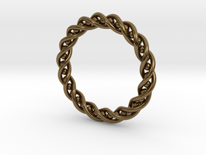 Twisted Single Strand Ring No.2 in Polished Bronze