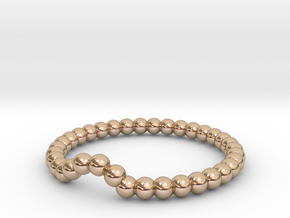 Bead Ball Band W-001 in 14k Rose Gold Plated Brass