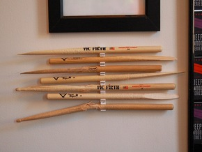 The Stick Clip v1.0- Broken Drum Sticks Become Art in White Natural Versatile Plastic