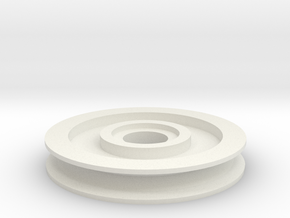 Pulley 01 in White Natural Versatile Plastic