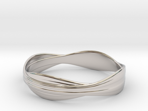 Cloth ring(Japan 18,America 9,Britain R)  in Rhodium Plated Brass