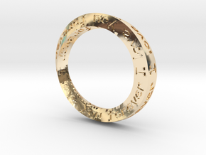 "Mobius ring ""I Love You Forever"" Size 5 in 14K Yellow Gold"