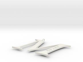 M in White Natural Versatile Plastic