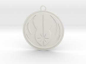 Jedi Pendant in White Strong & Flexible