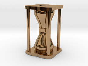 Number Hourglass Token in Polished Brass