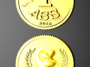 1 Ass Coin in 14K Gold