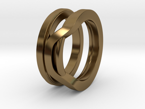 Balem's Ring1 - US-Size 3 (14.05 mm) in Polished Bronze