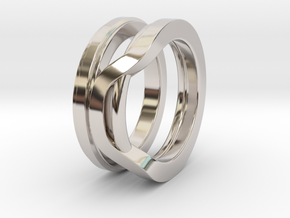 Balem's Ring1 - US-Size 3 1/2 (14.45 mm) in Rhodium Plated Brass