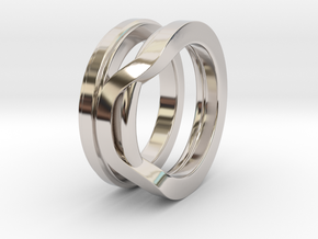 Balem's Ring1 - US-Size 7 1/2 (17.75 mm) in Rhodium Plated Brass