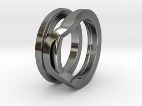 Balem's Ring1 - US-Size 7 1/2 (17.75 mm) in Fine Detail Polished Silver