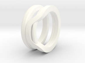 Balem's Ring1 - US-Size 7 1/2 (17.75 mm) in White Processed Versatile Plastic