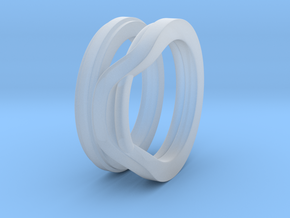 Balem's Ring1 - US-Size 4 (14.86 mm) in Smooth Fine Detail Plastic