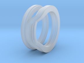 Balem's Ring1 - US-Size 7 (17.35 mm) in Smooth Fine Detail Plastic