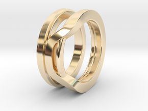 Balem's Ring1 - US-Size 13 (22.33 mm) in 14k Gold Plated Brass