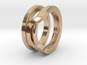 Balem's Ring1 - US-Size 8 1/2 (18.53 mm) in 14k Rose Gold Plated Brass
