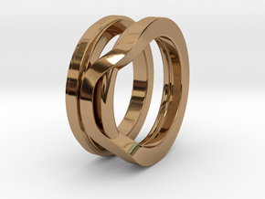 Balem's Ring1 - US-Size 10 (19.84 mm) in Polished Brass