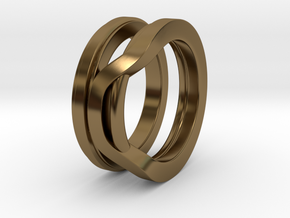 Balem's Ring1 - US-Size 10 1/2 (20.20 mm) in Polished Bronze