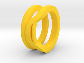 Balem's Ring1 - US-Size 10 1/2 (20.20 mm) in Yellow Processed Versatile Plastic