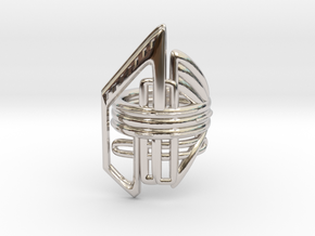Balem's Ring2 - US-Size 2 1/2 (13.61 mm) in Rhodium Plated Brass