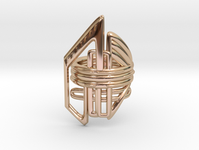 Balem's Ring2 - US-Size 4 (14.86 mm) in 14k Rose Gold Plated Brass