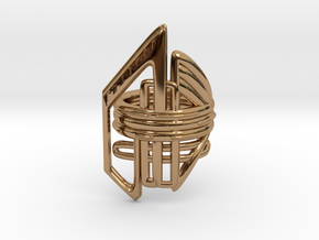 Balem's Ring2 - US-Size 4 (14.86 mm) in Polished Brass