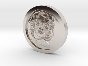 Marilyn Monroe Coin in Rhodium Plated Brass