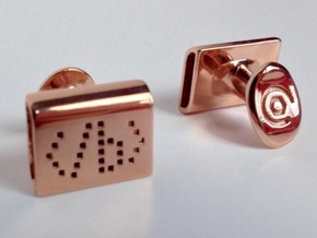Emboldening HTML cufflinks in 14k Rose Gold Plated