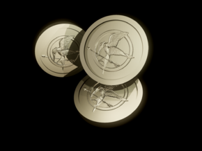 The hunger games Coin in White Natural Versatile Plastic
