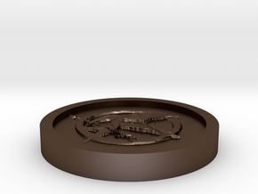 The hunger games Coin in Polished Bronze Steel