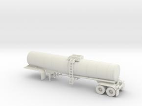 HO 1/87 Crude Oil Trailer, Brenner 210 in White Natural Versatile Plastic