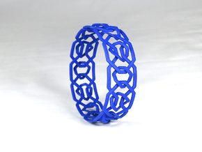 Dilly Design Interlaced Pattern Bangle in Blue Processed Versatile Plastic