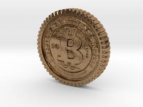 Bitcoin high detail in Natural Brass