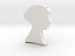 Jane Austen Cameo Pendant Necklace in White Natural Versatile Plastic