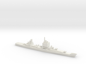 USS Long Beach, Final Layout, 1/1800 in White Natural Versatile Plastic