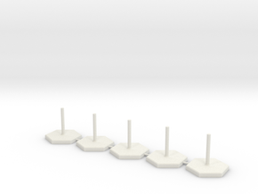 Hexagon Stand 1 Inch / pole diameter 0,1  in White Strong & Flexible