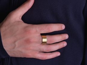 FREEFUTURE F5-2 RING, US size 13.5, d=22.5mm (size in 18k Gold Plated Brass