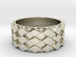 Futuristic Diamond Ring Size 10 in 14k White Gold