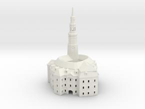 Castle / Schloss Habendorf /  Owiesno 127mm hight in White Natural Versatile Plastic