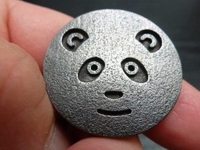 Panda coin in Polished and Bronzed Black Steel