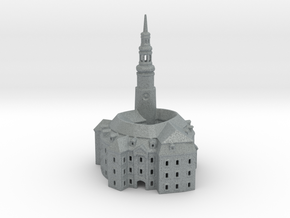 Castle / Schloss Habendorf /  Owiesno 127mm hight in Polished Metallic Plastic