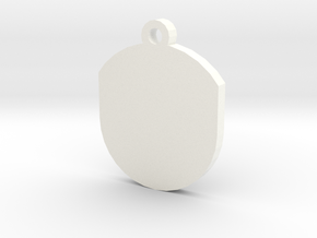 Customisable Insert for Circular Frame Pendant in White Processed Versatile Plastic