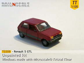 Renault 5 GTL (TT 1:120) in Smooth Fine Detail Plastic